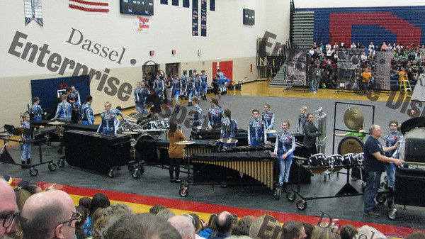 "Dassel Cokato  Drumline Competition, featuring the theme, ""Activate."""