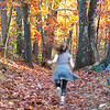 Girl Jogging in the Woods