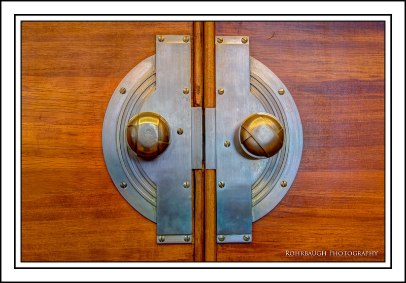 Door Knob detail in President's office.