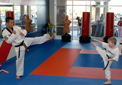 Connor's Tae Kwondo Belt Promotion -- 6.15.2006