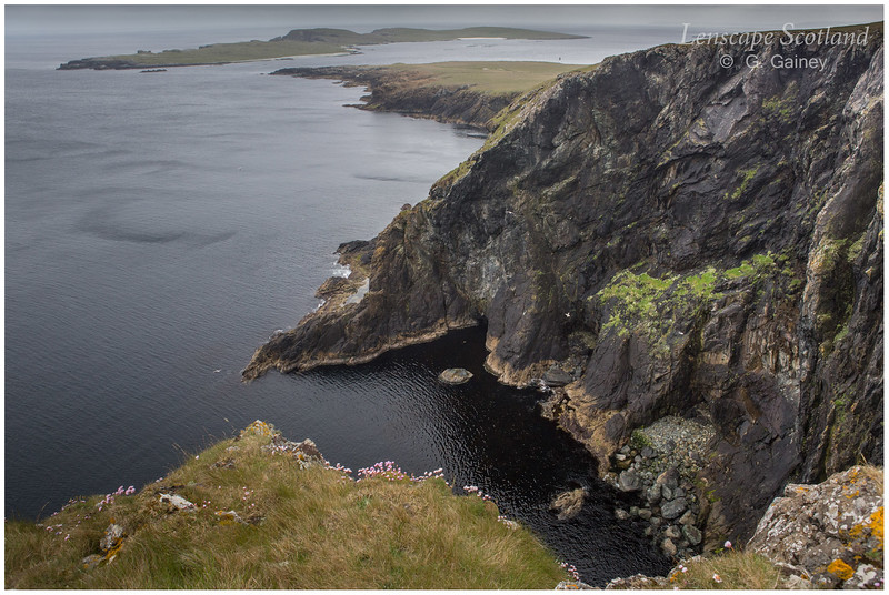 Keen of Hamar cliffs and Isle of Balta (Unst)
