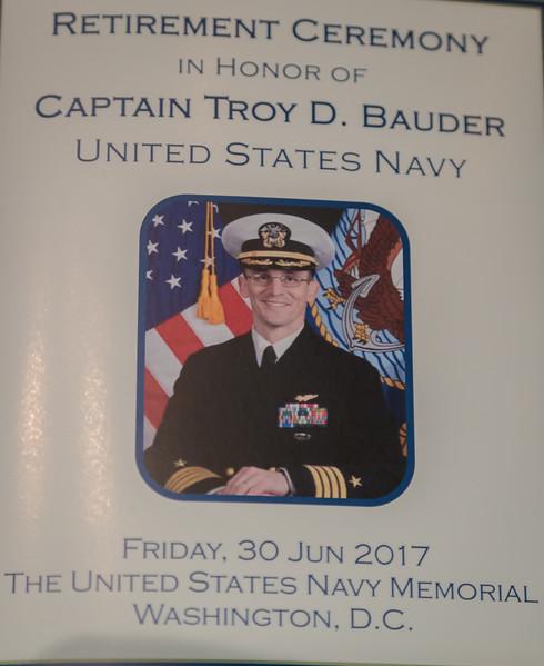 Capt. Troy Bauder Retirement