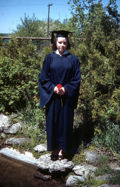 Dorothy Mae Foote at her high school graduation