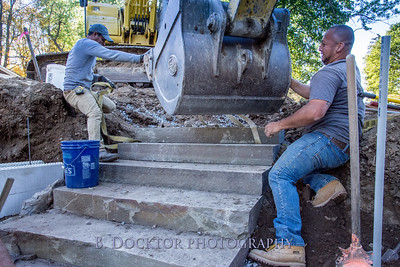 Building stone stairs in Ghent NY