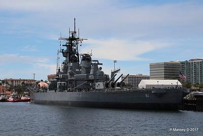 USS IOWA BB-61 San Pedro 17 Apr 2017