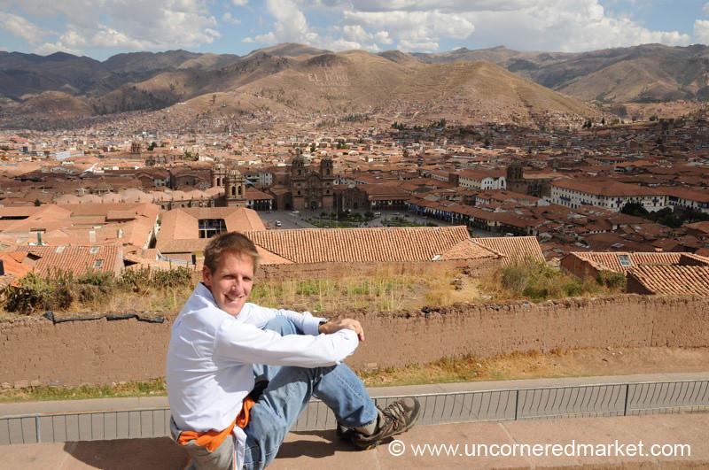 Dan Looks Out Over Cusco - Peru