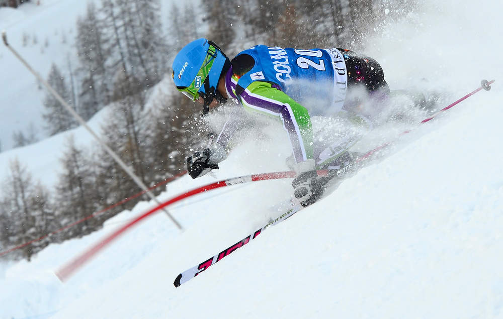 Description of . Naoki Yuasa of Japan competes in the first run of the FIS Alpine World Cup Men's Slalom on December 8, 2012 in Val d'Isere, French Alps. AFP PHOTO / FRANCK  FIFE/AFP/Getty Images