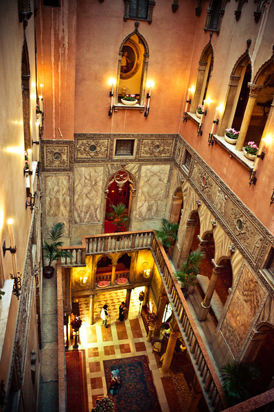 Hotel Danieli Lobby, view from above