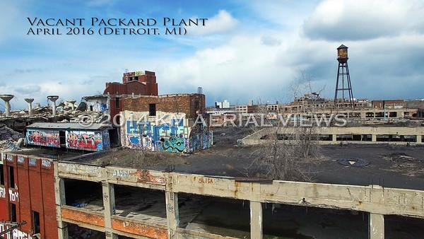 Aerial Detroit:  Vacant Packard Plant (Detroit, MI) April 2016