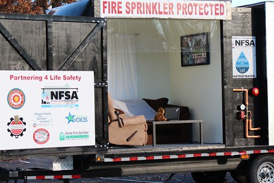 Drill - Mass. Dept. of Fire Service Sprinkler Demo, South Hadley, MA - 11/8/18