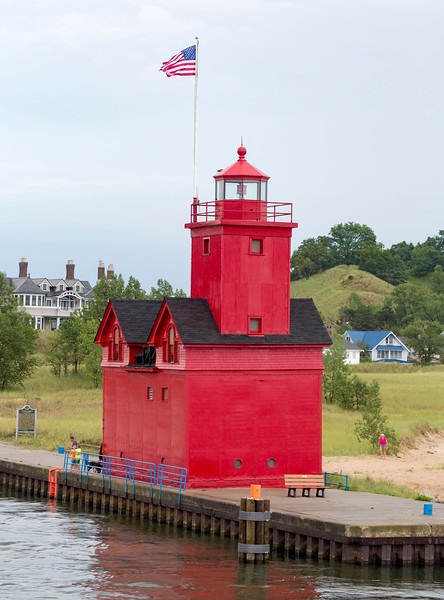 The iconic Red Lighthouse