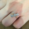 1.38ctw Antique Old European Cut Diamond 3-Stone Ring 11