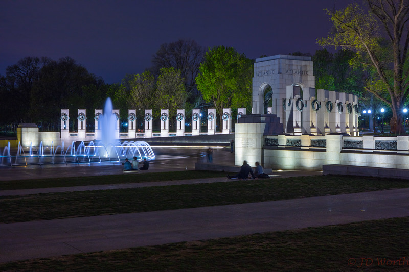 042118 Washington DC - WWII Memorial - Atlantic Theater West View Night-2250.jpg