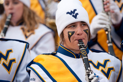 WVU Band Formations Mountaineer Field November 2012