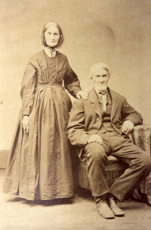 Eve Ow (1804-1882) and her husband Benedict Stevens (1802-1883).