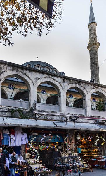 Istanbul, Rüstem Pascha von Nordwest aus Straße