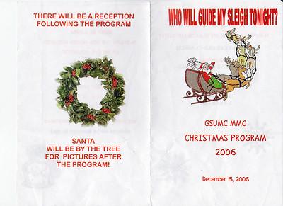 Christmas PreSchool Program 2006