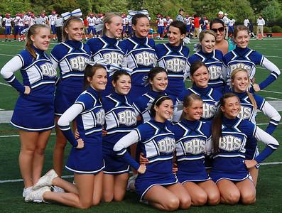 Cheerleaders at Football vs Brookline 2011