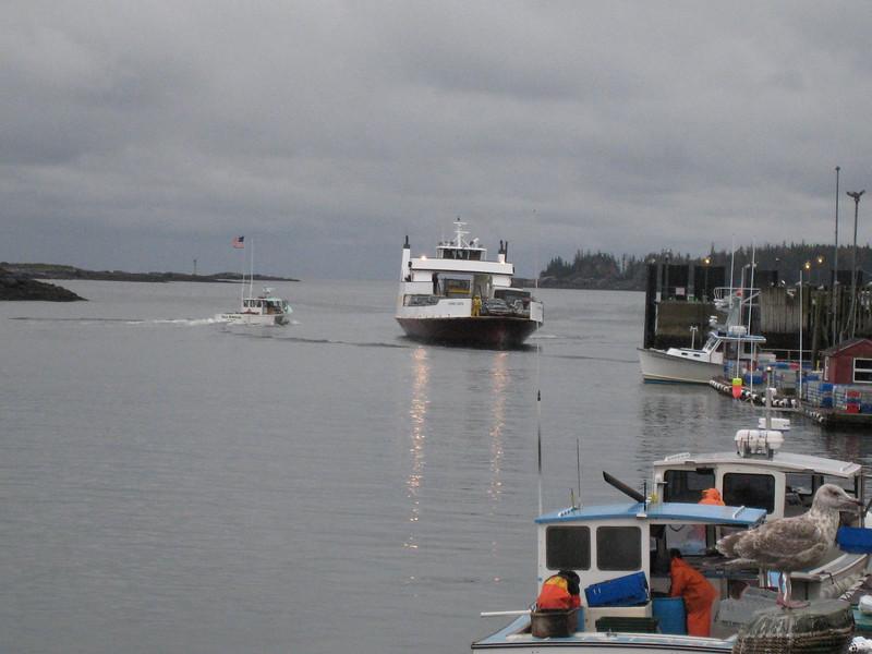 Ferry arrival - Vinalhaven. Maine