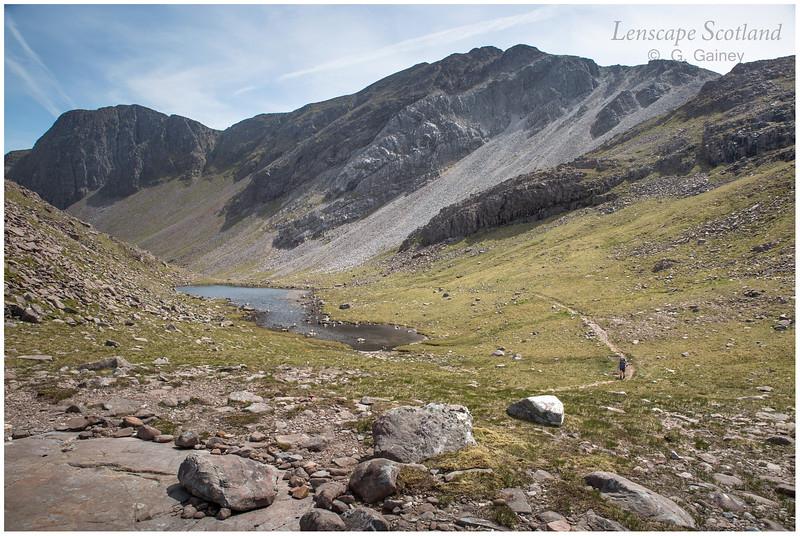 Sgorr Ruadh from the bealach between Coire Lair and Coire Grannda