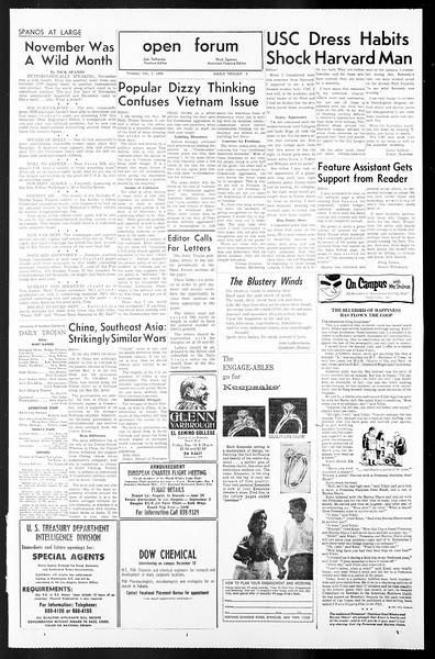 Daily Trojan, Vol. 57, No. 52, December 07, 1965