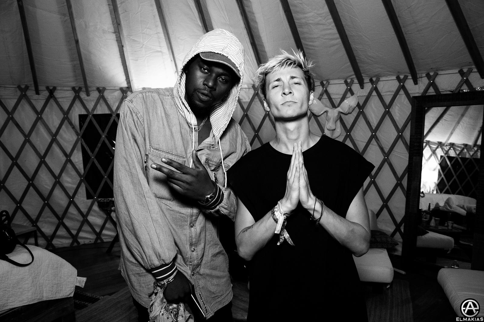 Theophilus London and Roy English at Coachella by Adam Elmakias