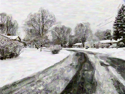A Winter Snow Storm