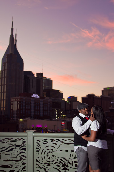sunset engagement session in nashville