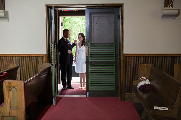 Little Stone Church intimate Wedding Mackinac Island Bethanie Steve