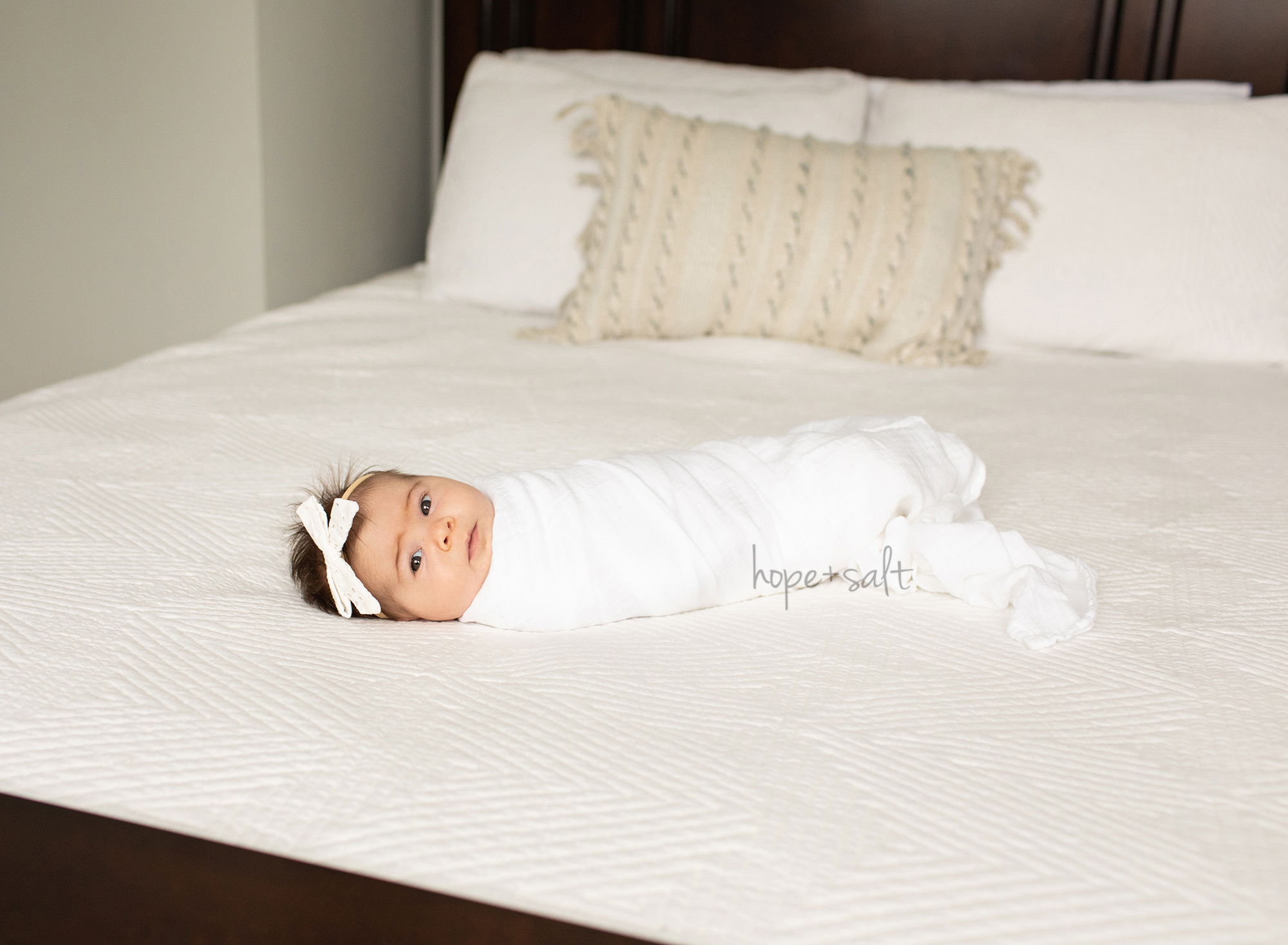 2 month old baby girl lifestyle in home photos light and airy organic style burlington ontario older newborn photographer