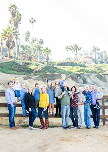 The Extended Goldstein Family Photography - Cuvier Wall/Cuvier Park La Jolla November 2018