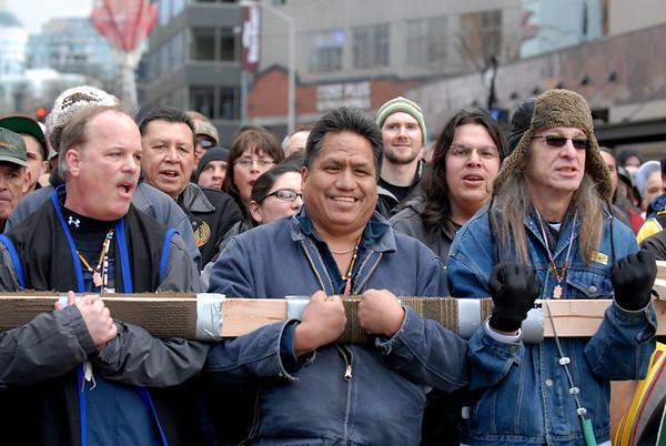 The John T. Williams Totem Pole Raising Ceremony