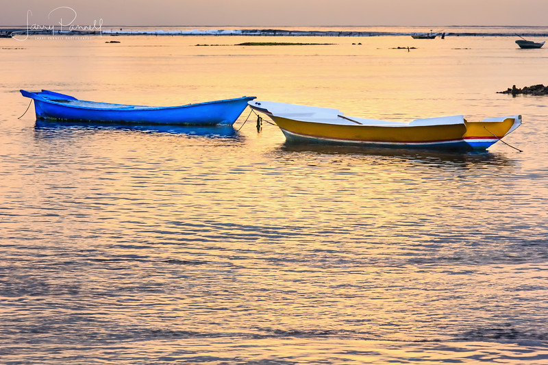 Fishing Boats at Sunset - Lembongan Island, Bali