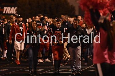Clinton Senior Night 10.18/DeWitt at Clinton Football