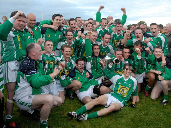 Cullaville V Whitecross in the Intermediate Football Championship Final.  Whitecross Celebrate 07W35N263