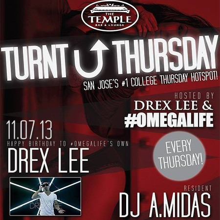 Turnt Up Thursdays @ Temple Bar & Lounge 11.7.13