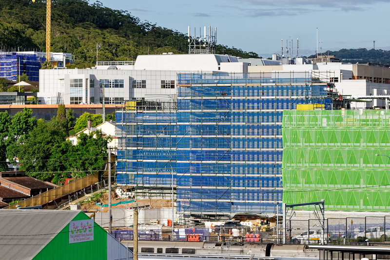 Gosford Hospital building progress December 6, 2018.  (h74ed)