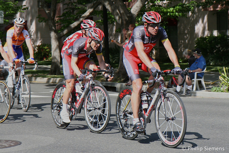 Levi Leipheimer being led by ??