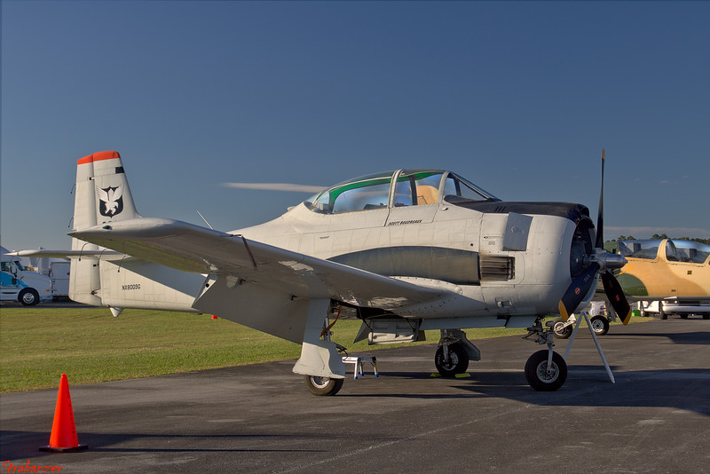 North American T28D  s/n 189-2 Trojan   NX8009G Rome GA 10/13/2018 This work is licensed under a Creative Commons Attribution- NonCommercial 4.0 International License.