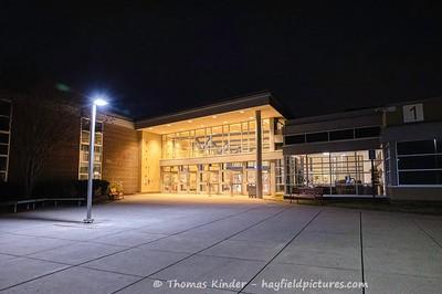 Main Entrance at Night 12/21/20