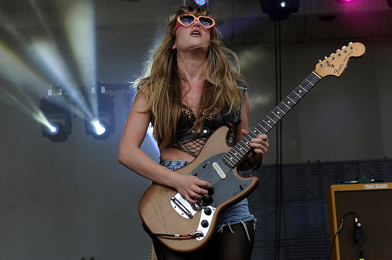 . Lindsey Troy of Deap Valley performs during Lollapalooza 2013 at Grant Park on August 2, 2013 in Chicago, Illinois. (Photo by Seth McConnell/The Denver Post)