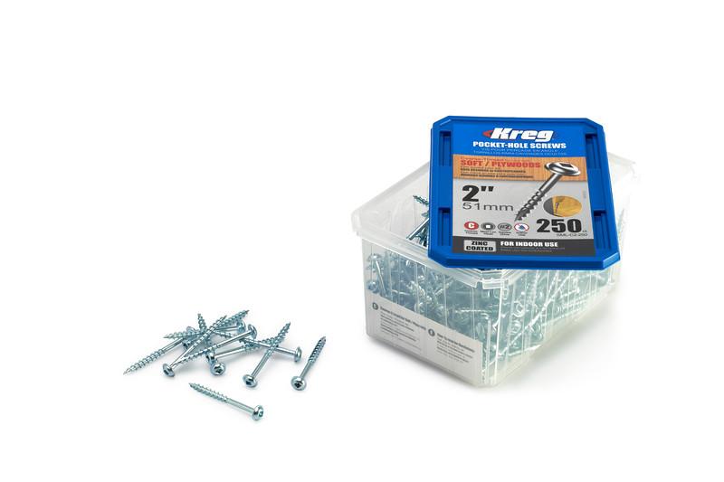 250 pc 51mm Kreg Pocket Hole Screws