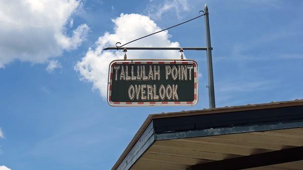 June 22, 2014:  Tallulah Point Overlook .  .  .