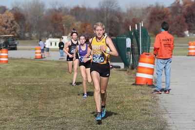 D1 Girls' at 2 Miles Section 2 - 2020 MHSAA LP XC