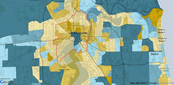 2010 Census Urban Core Population Growth Maps