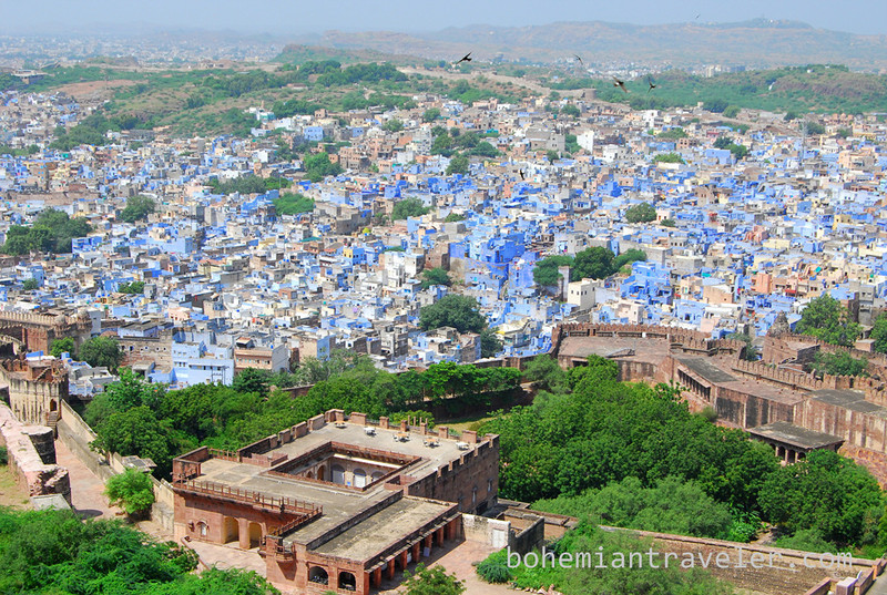view of the Blue City from Mehrangarh Fort in Jodhpur (2).jpg