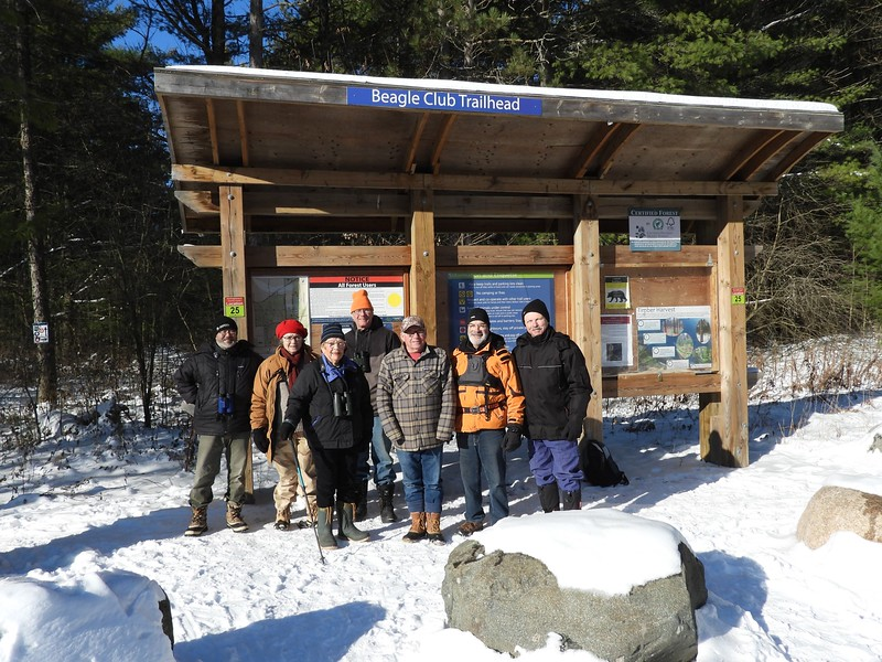 WBFN members at the Beagle Club Trailhead, Northumberland Forest