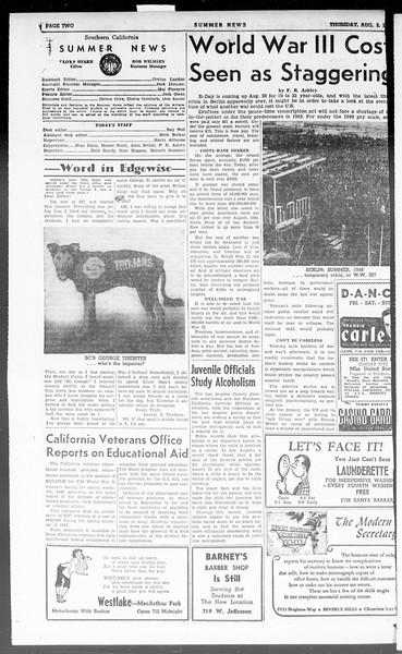 Summer News, Vol. 3, No. 19, August 05, 1948