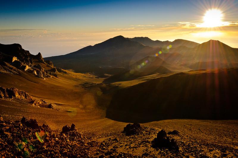 Sunrise over Haleakala Crater.   Maui, Hi.