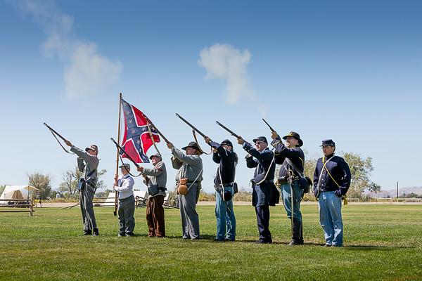 Battle Born Civil War Reenactors